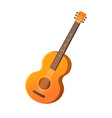 acoustic guitar with strings musical instrument vector image vector image