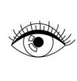 all seeing eye symbol decorative tattoo art vector image