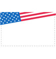 american flag symbols corner frame vector image vector image