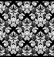baroque black and white ornate seamless pattern vector image vector image