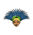 beautiful young samba dancer in stage costume vector image