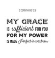 biblical phrase from 2 corinthians 129 my grace vector image vector image