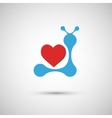 blue heart on a white background vector image vector image