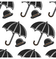 bowler hat and umbrella british symbols seamless vector image vector image