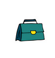 briefcase line icon in doodle style isolated on vector image
