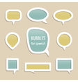 Bubbles for speech collection vector | Price: 1 Credit (USD $1)