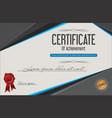 certificate achievement retro template 3 vector image vector image