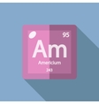 Chemical element Americium Flat vector image vector image