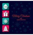 Christmas icon card vector image vector image