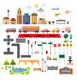 city design elements icons vector image vector image