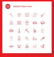 clean icons vector image vector image