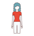color sections silhouette faceless front view vector image vector image