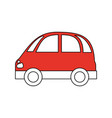 color silhouette image red small car icon vector image vector image