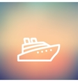 Cruise ship thin line icon vector image