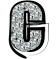 Diamond Font letter c vector image vector image