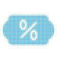 discount tag halftone icon vector image vector image
