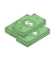 Dollar icon flat design Money dollars isolated