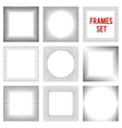 Edgy lines frames background set style vector image vector image
