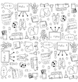 Education doodles stock vector image vector image