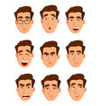 face expressions of a man different male emotions vector image vector image