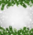 Fir christmas frame vector image vector image