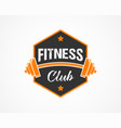 fitness crossfit gym emblems label badge logo vector image