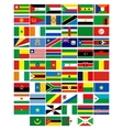 Flags of the countries of Africa vector image vector image