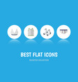 flat icon garment set of underclothes brasserie vector image vector image