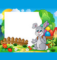 frame with easter bunny theme 4 vector image