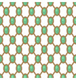gems geometric pattern with net green and gold vector image vector image