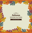 geometric pattern of autumn leaves and twigs vector image vector image