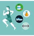 Healthy lifestyle design bodycare icon Colorful vector image