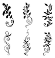 High quality original set of floral elements for vector image vector image