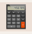 icon of electronic calculator vector image