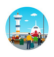 icon waiting roomtravel and tourism concept vector image