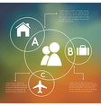 Infographics overlapping circles vector image vector image