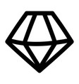 isolated diamond gem icon design vector image
