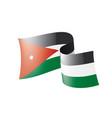 jordan flag on a white vector image