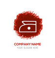 laundry symbols icon - red watercolor circle vector image