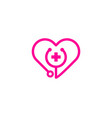 love medical logo icon design vector image