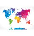 low poly world map vector image vector image