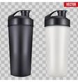Mock-up Plastic Sport Nutrition Drink Bottle vector image vector image