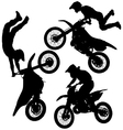 Motocross Jump Silhouette vector image vector image