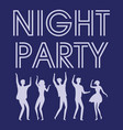 night party celebration and active lifestyle vector image vector image