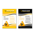 nuclear document templates vector image vector image