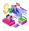 online distance education from home vector image vector image