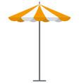 orange striped market outdoor umbrella vector image