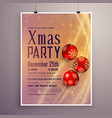 party invitation template design for christmas vector image vector image
