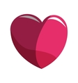 pink heart icon vector image vector image