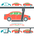 production line cars vector image